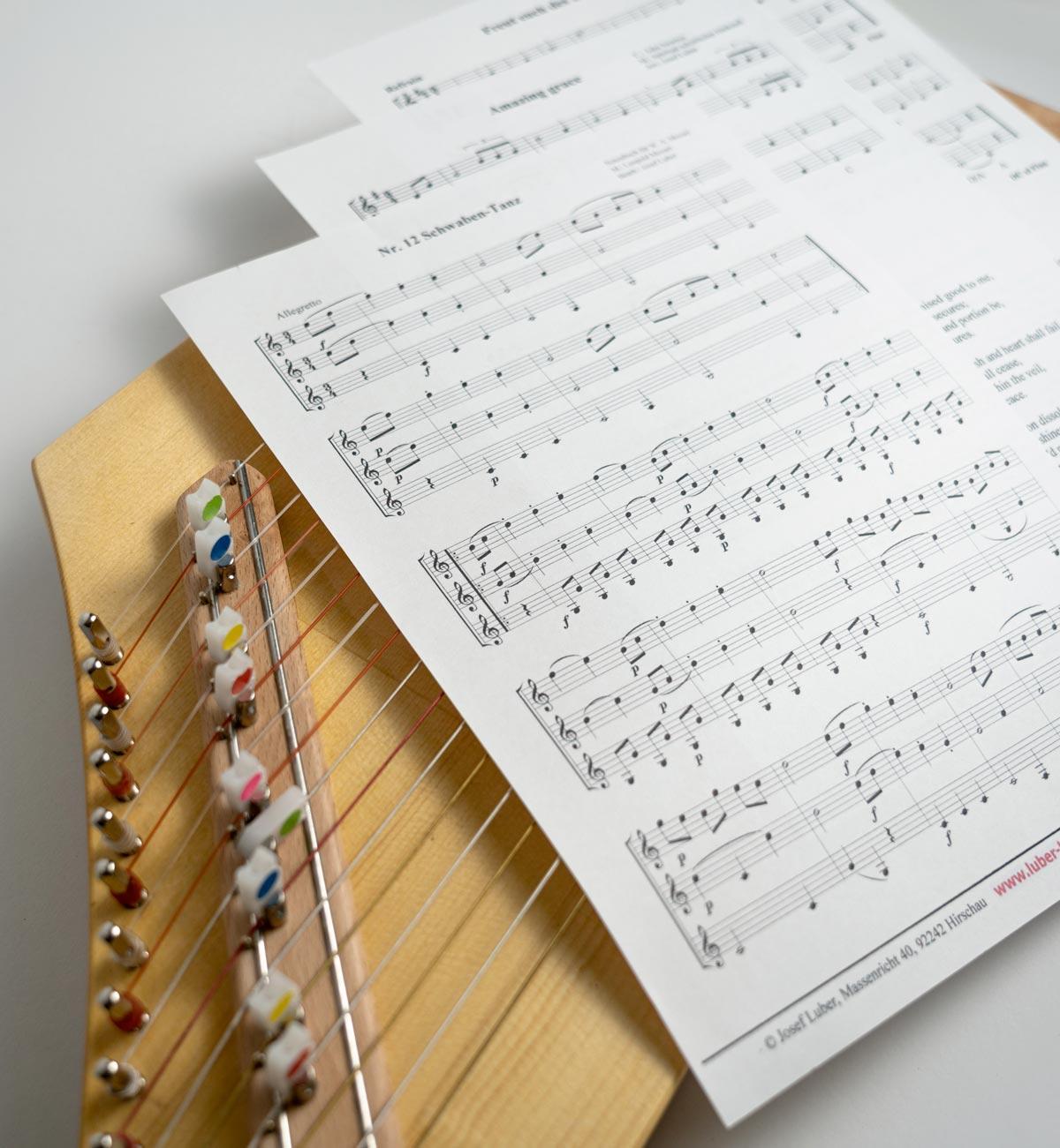 Reguläre Noten Luber-Harfe