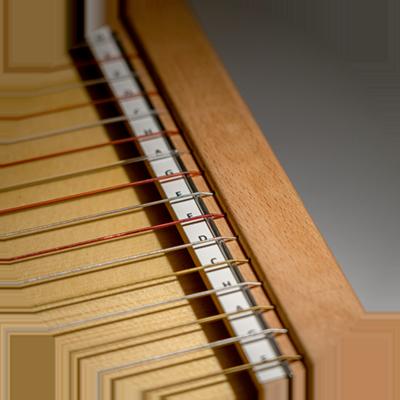 Tonumfang der Luber-Harfe