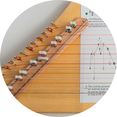 Nylonsaiten Luber-Harfe
